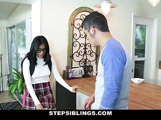 StepSiblings - Nerdy Teen Rides Stepbros Cock