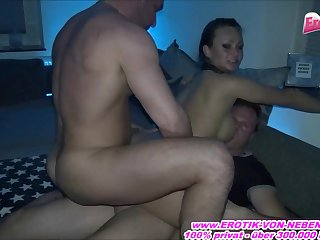 Deutsche Nutte - german hooker threesome private homemade fuck with sexy-ina